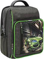 Школьный рюкзак Bagland оливковый хаки Sport Car