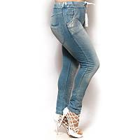 Женские брюки большого размера с напылением
