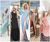 Модное женское платье макси с карманами / Украина / вискоза