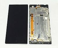 Дисплей Lenovo P70 леново с тачскрином и рамкой в сборе, цвет черный.