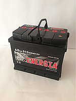 Аккумулятор Energia 6СТ-60, пусковой ток 510En, габариты 242х175х190, гарантия 12 мес., эконом класс