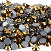 Стразы А+ Премиум, Gold Hematite (золото) SS6 (2,0 мм) термоклеевые. Цена за 144 шт.