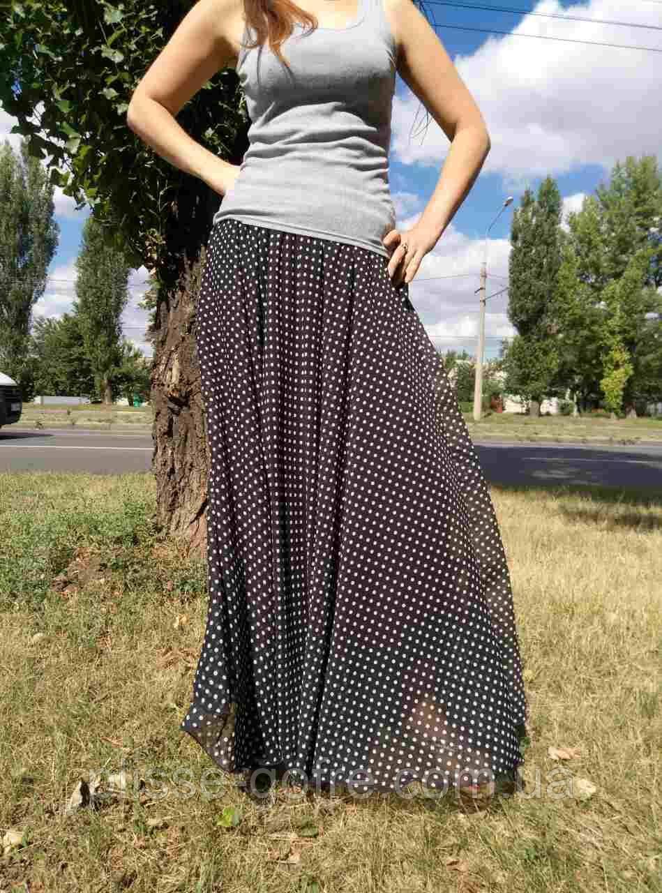 81b5908bb7d Шифоновая юбка макси мелкий горох - Мастерская-ателье плиссе-гофре