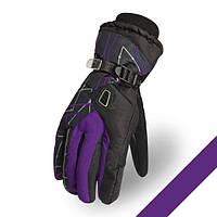 Мужские горнолыжные перчатки Kineed (перчатки лыжные): фиолетовый, размер M-L/L-XL