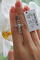 Крест серебряный с камнями