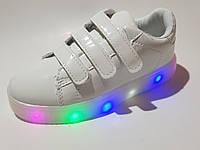 Стильные кроссовки с подсветкой на девочку 31 - 36 размеры