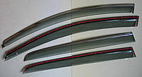 GOLF 7 MK7 2014 ветровики с молдингом нерж сталь