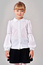 Блузка с кружевом для школы 603-1