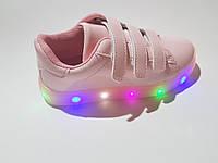 Осенние кроссовки с подсветкой на девочку 31 - 36 размеры