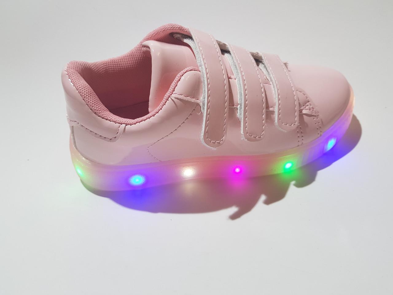 ebd38104 Лаковые кроссовки с подсветкой на девочку 31 - 36 размеры - KINDERTORG в  Днепре
