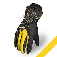 Мужские горнолыжные перчатки Kineed (перчатки лыжные): желтый, размер M-L/L-XL