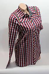 Женские рубашки в клетку удлиненные RAM. оптом VSA