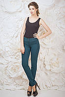 Модные женские брюки Жаклин Зелёная Размер 42-48