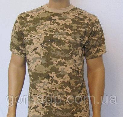 Армейская камуфляжная футболка ВСУ пиксель мм-14