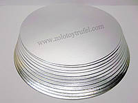 Подложка для торта золото-серебро d 26 см, фото 1