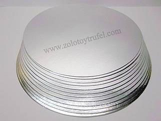 Подложка для торта золото-серебро d 26 см