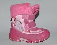 Super Gear арт.6263 розовые. северный мишка  Сноубутсы для девочек.