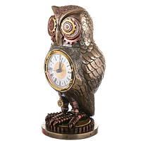 "Часы ""Сова"" (26 см) Стимпанк Veronese (Италия)"