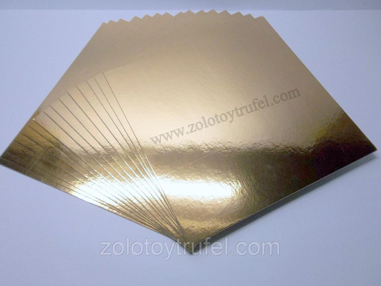 Подложка для торта золото-серебро 6 х 12 см