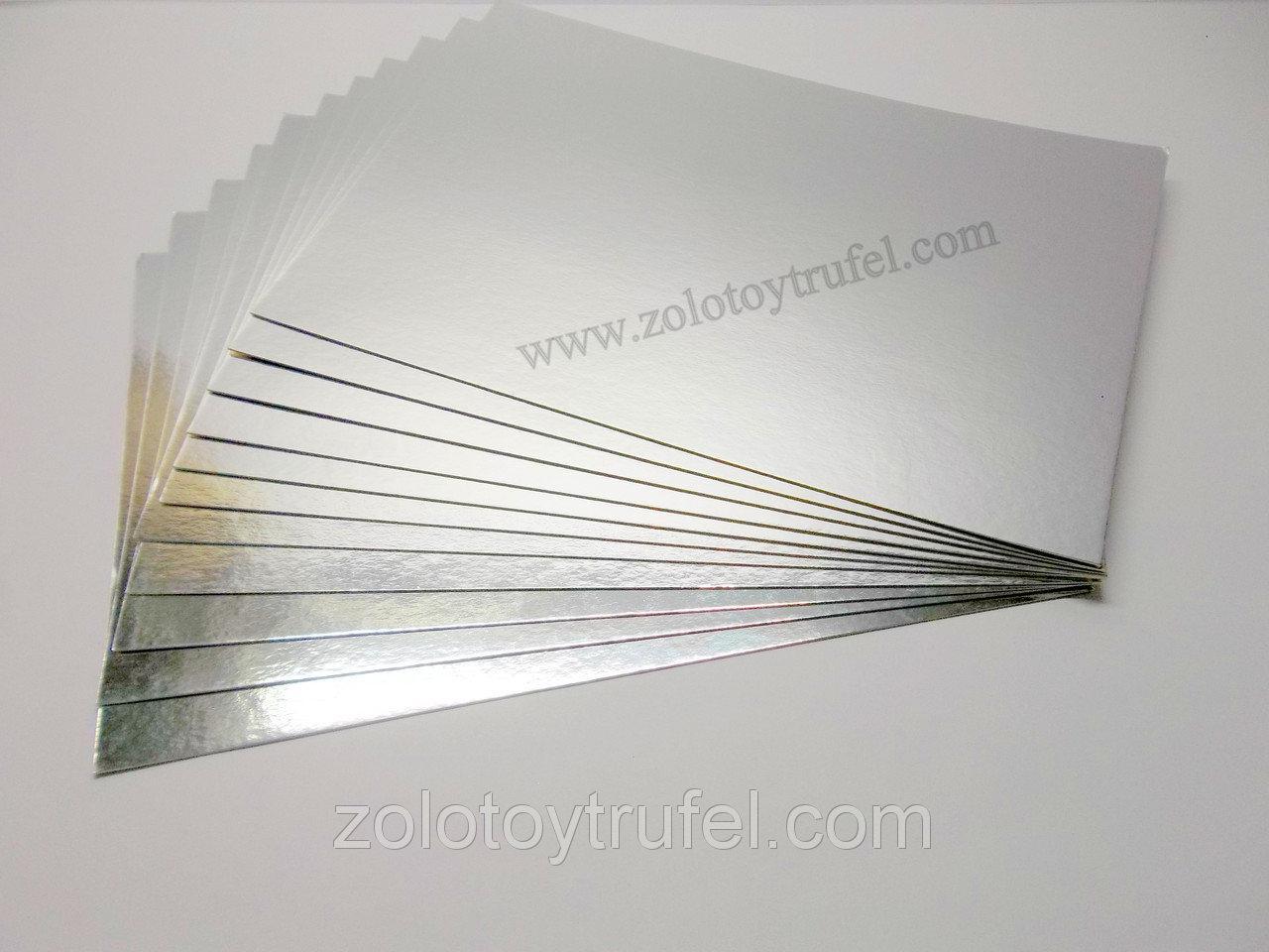 Подложка для торта золото-серебро 10 х 10 см