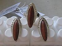 Комплект из 925 серебра с авантюрином