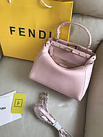 Женская сумочка FENDI PEEKABOO 23 см розовая