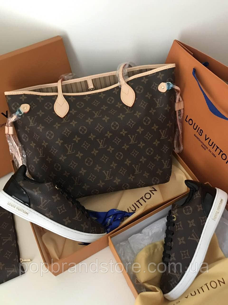 Популярная сумка Louis Vuitton Neverfull  32 cм (реплика), фото 1