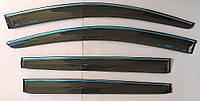 Дефлекторы окон ветровики на CHEVROLET Шевроле Aveo T300 хэтчбек 5 дверей ASP с хром полоской