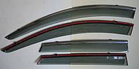 CX-5 2012 ветровики с молдингом нерж сталь