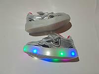 Осенние кроссовки с подсветкой для девочки 21 - 26 размеры