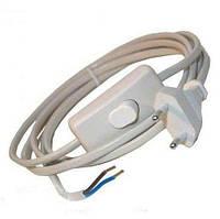 Кабель с плоской вилкой 1,9м + выключатель серый / LMA017