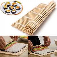 Бамбуковый коврик для заворачивания суши роллов