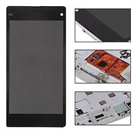 Дисплей (экран) для Sony D5503 Xperia Z1 Compact Mini + с сенсором (тачскрином) и рамкой белый Оригинал