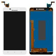 Дисплей Lenovo A5000 леново с тачскрином в сборе, цвет белый.