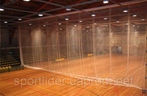 Сетка заградительная капроновая для перегородок спортивных залов
