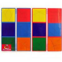 Деревянные кубики Методика Никитина Сложи квадрат 3 уровень, 12 квадратов Вундеркинд СК-021-1