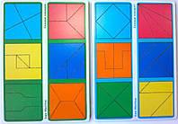 Деревянные кубики Методика Никитиных Сложи квадрат 2 уровень, 12 квадратов Вундеркинд СК-020-1