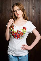 Красивая подростковая вышитая футболка из трикотажа