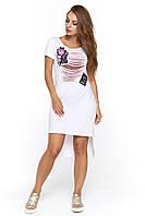 Белое молодежное платье Картона