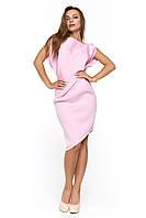 Вечернее короткое платье из неопрена Альта розовое