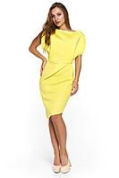 Вечернее короткое платье из неопрена Альта желтое