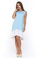 Голубое летнее платье Арко