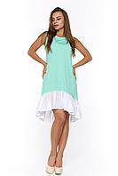 Мятное летнее платье Арко