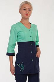 Медицинский женский костюм на кнопках 2290 ( батист 40-60 р-р )