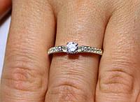 Кольцо серебро 925 проба 17.5 размер АРТ1197