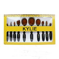 Набор кистей-щеточек Kylie 10 шт.