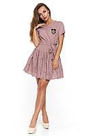 Летнее платье с поясом из прошвы Бриатика
