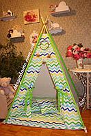 """Детский игровой домик, вигвам, палатка, шатер, шалаш, вігвам, дитячий будинок палатка """"Цветной зигзаг"""""""
