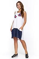 Летнее белое платье в стиле casual Миджас