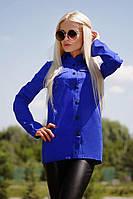 Стильная женская блуза на кнопках (бенгалин) 42-60р РАЗНЫЕ ЦВЕТА